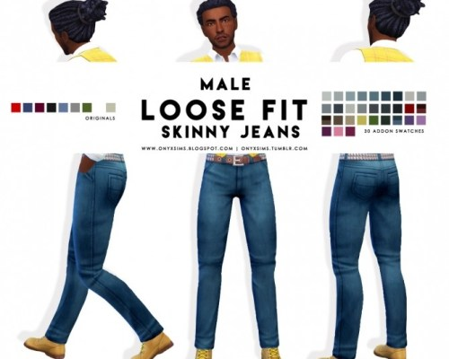 Male Loose Fit Skinny Jeans