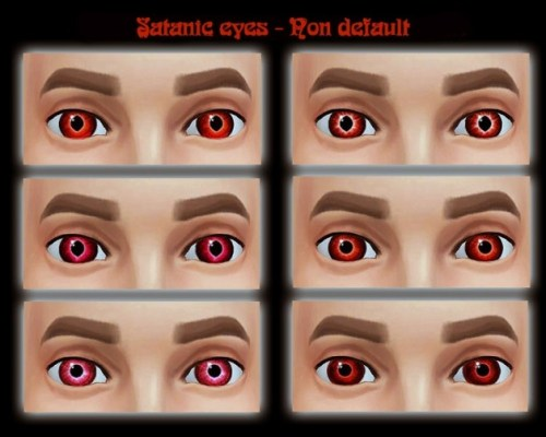 Updated Satanic eyes by Simalicious