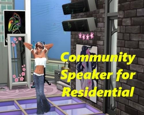 Community Speaker for Residential by RevyRei