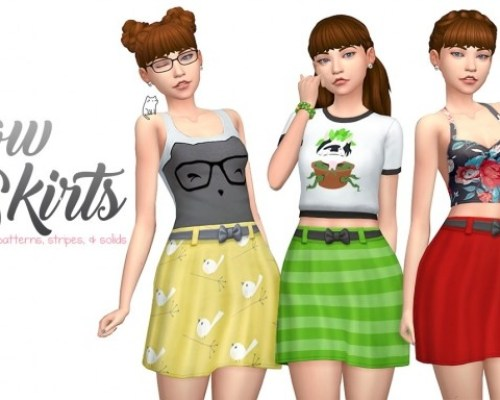 Bow Belted Skirts