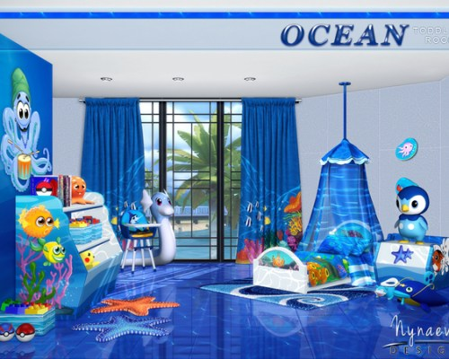 Ocean Toddlers bedroom by NynaeveDesign