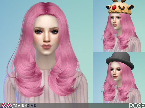 Rose Hair 43 By TsminhSims