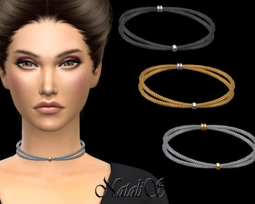 Double Crossed Cable Necklace by NataliS