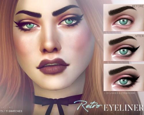 Retro Eyeliner N73 by Pralinesims