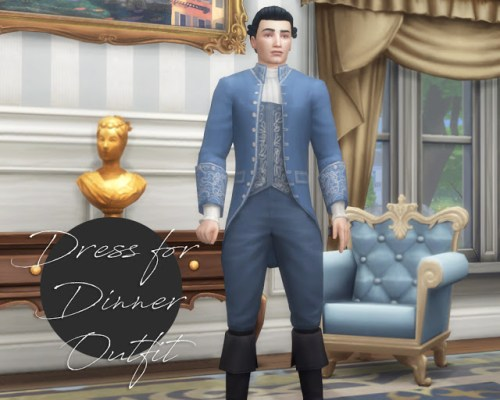 TS3 to TS4 Dress for Dinner Outfit Conversion