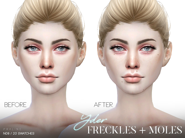 Yder Freckles + Moles N08 By Pralinesims