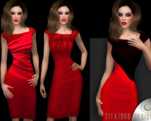 Lady In Red dresses by ZitaRossouw