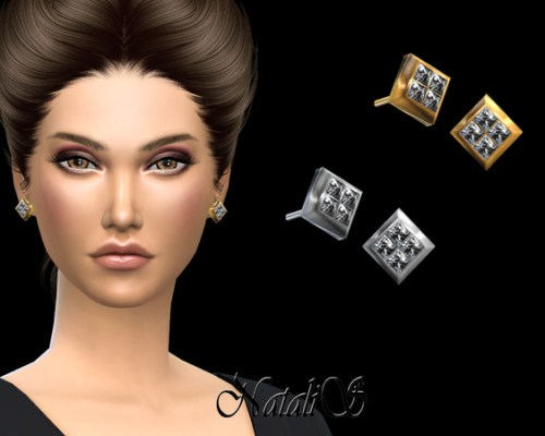 Four Crystals Stud Earrings by NataliS