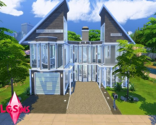 No Privacy Modern house by LCSims