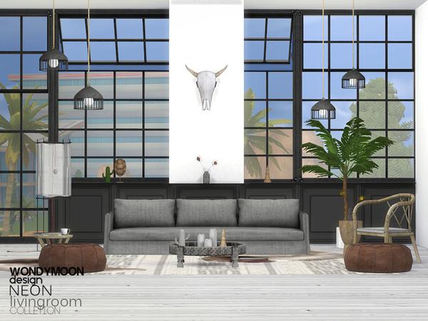 Neon Livingroom By Wondymoon