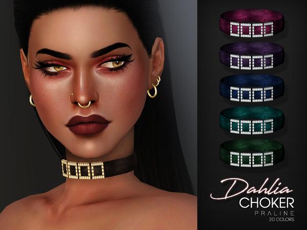 Dahlia Choker By Pralinesims