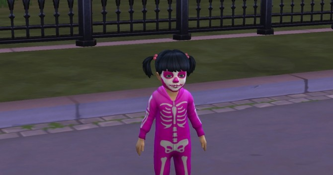Spooky Stuff Skeleton Face Paint For Toddlers By TMNTFanGirl18
