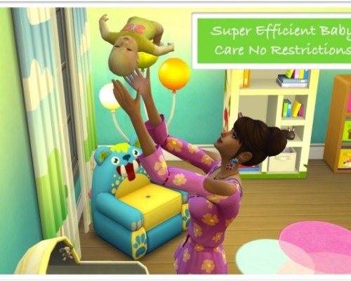No Restrictions for Super Efficient Baby Care by zafisims