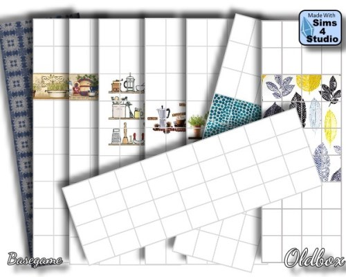 Wallpapers for kitchen and bathroom by Oldbox