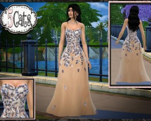 Falling Leaves Long Tulle Dress