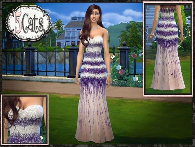 Sequin Tulle Mermaid Gown