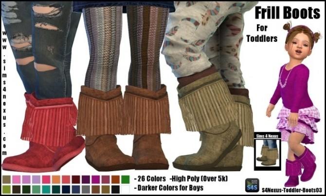 Frill Boots By SamanthaGump