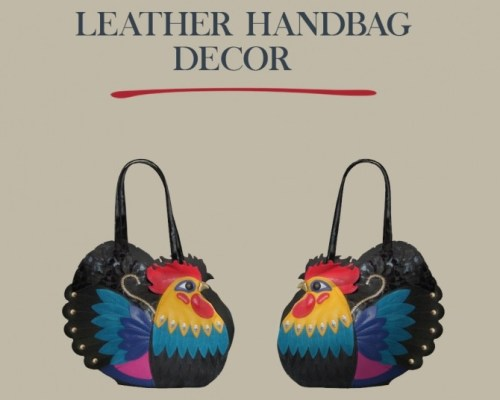 Leather Handbag Decor