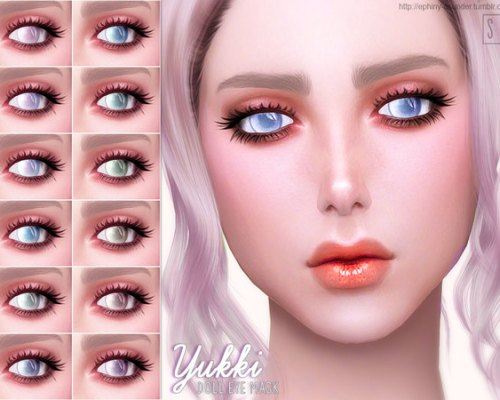 Yukki Doll Eye Mask by Screaming Mustard