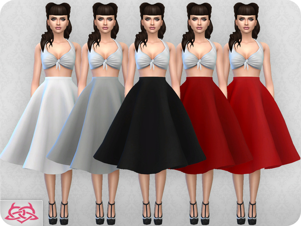 Vintage Basic Skirt 2 By Colores Urbanos