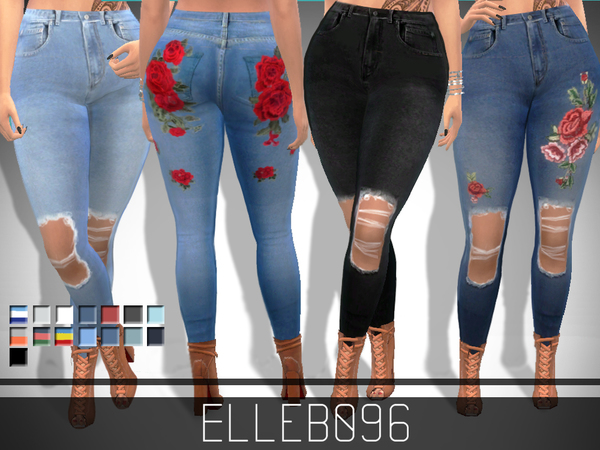 Trendy Ripped Jeans By Elleb096