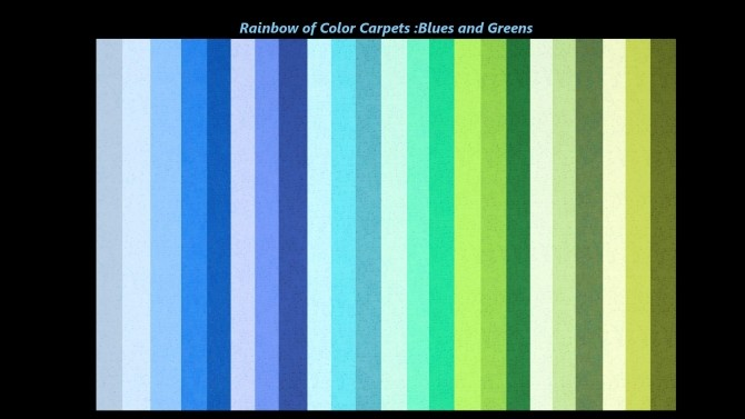 A Rainbow Of Color Carpets By Snowhaze