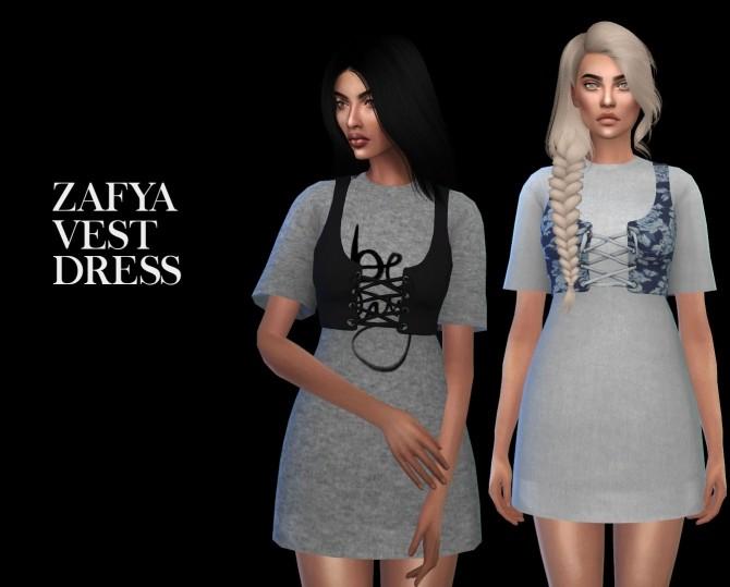Zafya Vest Dress
