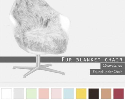 Fur Blanket Chair at