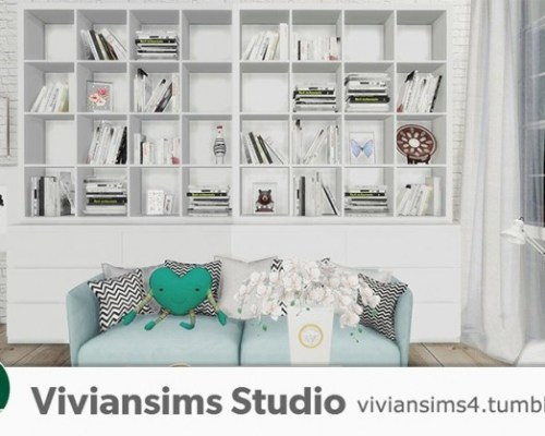 ​Nordic Style bookshelf and books