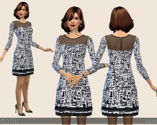 Opposites dress by Paogae