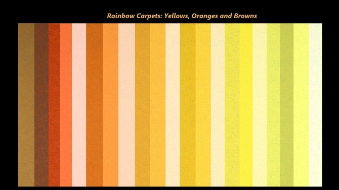 A Rainbow Of Color Carpets 2 By Snowhaze