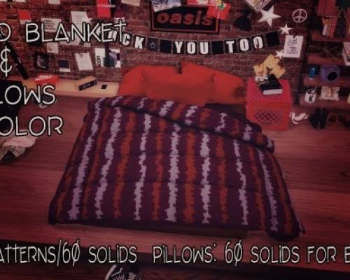Floorbed Blanket & Pillows Recolor by Sympxls
