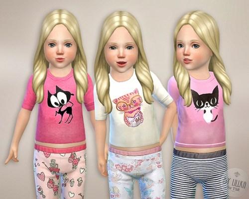 Cat Shirt for Toddler Girls by lillka