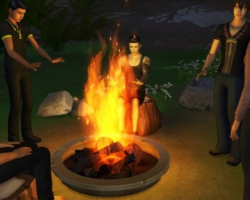 Campfire Lighting Fix by simsilver0