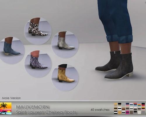 MAUVEMORN Chelsea Boots Recolor Male version