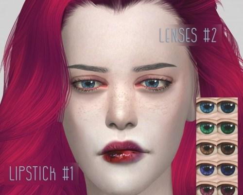 Lenses #2 and lipstick #1