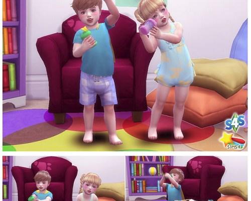 Dink pose toddler