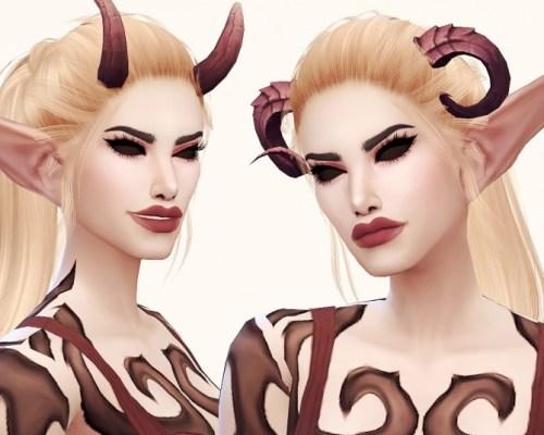 Lildari WoW Demon Hunter horns conversion (smaller version)