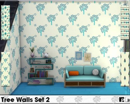 Tree Walls Set 2 by Pinkfizzzzz