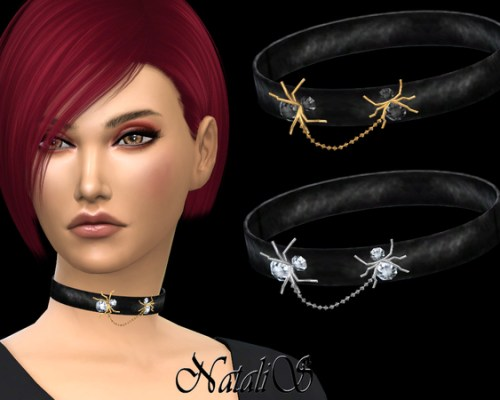 Choker with Spiders by NataliS