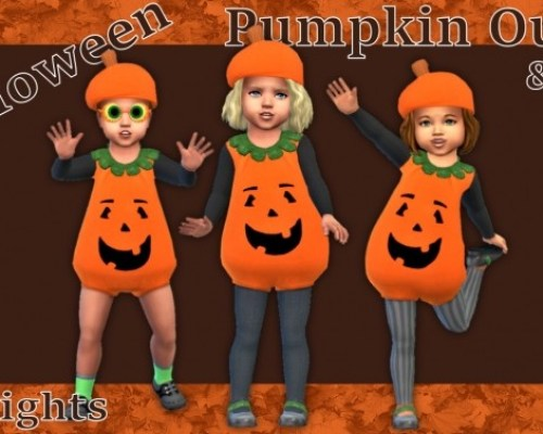 Toddlers Pumpkin Outfit & Hat