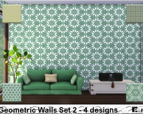 Geometric Walls Set 2 by Pinkfizzzzz