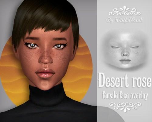 Desert Rose face overlay by WistfulCastle