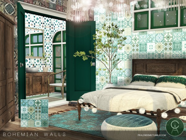 Bohemian Walls By Pralinesims