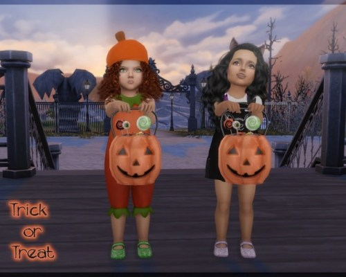 Trick or Treat! Pumpkin bucket and pose pack by Giulietta