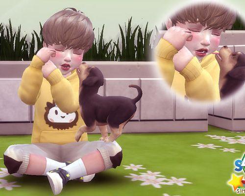 Toddler & Puppy Pose