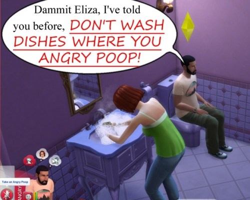 Don't Wash Dishes Where You Angry Poop by scumbumbo
