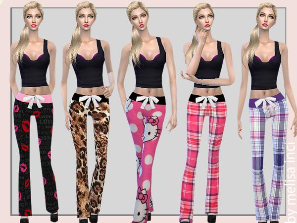 Floral Pajama Bottoms By Melisa Inci