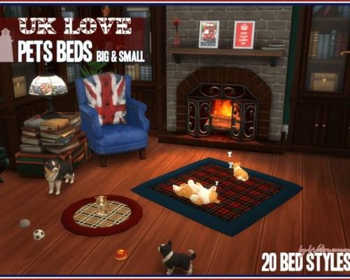 UK LOVE Pets Beds by Waterwoman