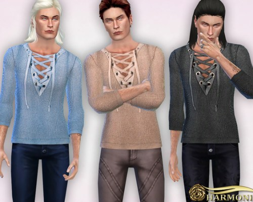 Lace-Up Neck Jumper by Harmonia